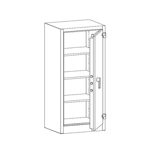 Bezpečnostní a ohnivzdorná skříň SAM W 1a 1
