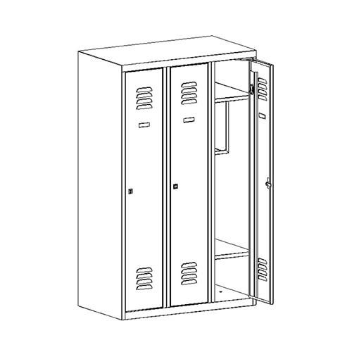 Kovová šatní skříň SUMS-330p