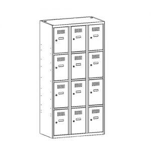 Kovová šatní skříň SUS-334 W