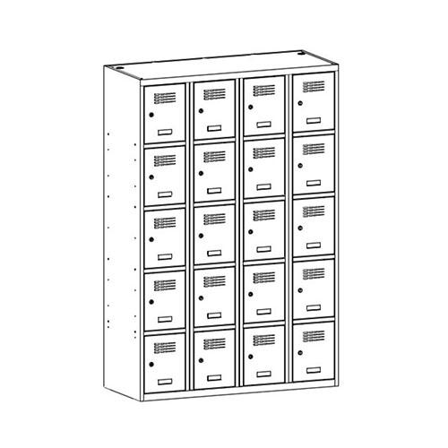 Kovová šatní skříň SUS-345 W