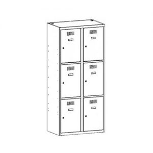 Kovová šatní skříň SUS-423 W