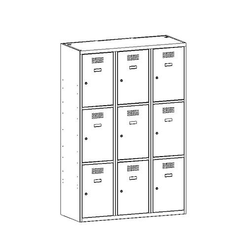 Kovová šatní skříň SUS-433 W