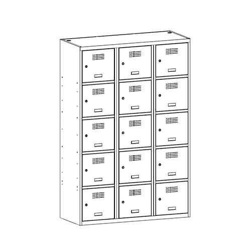 Kovová šatní skříň SUS-435 W